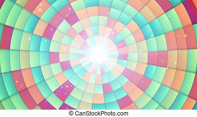loopable, circulaire, segments, coloré
