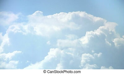 Loopable Clouds and blue sky video