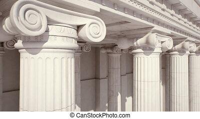 loopable, columns., marmor