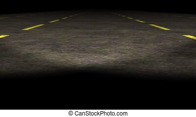 Loopable empty highway animation - Travel on empty highway...