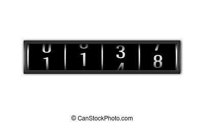 loopable, getallen, telling, op, witte achtergrond