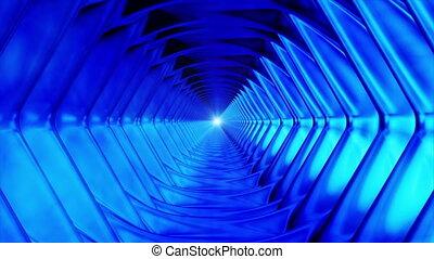 loopable, high-tech, émission, bleu, interminable, tunnel, hexagone, hd