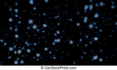 loopable, opad śnieżny, noc