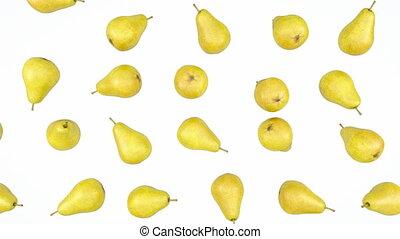 Loopable Pears rain flow. slow mo
