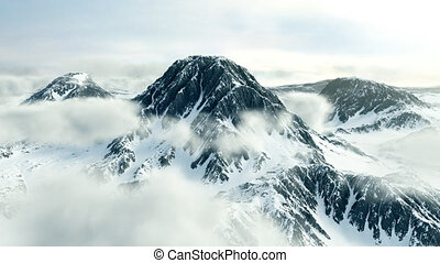 loopable, pic, hiver, montagne