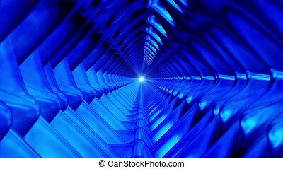 loopable, résumé, high-tech, émission, bleu, interminable, tunnel, hd