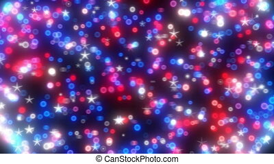 Loopable rotating glitter orb
