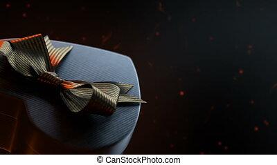 Loopable rotation of heart shaped gift box