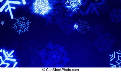 Loopable shine snow background