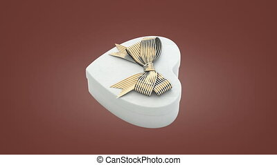 Loopable spin of heart shaped gift box - Loopable spin of...