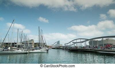 Loopable timelapse of Port Vell, Barcelona, Spain - Time ...