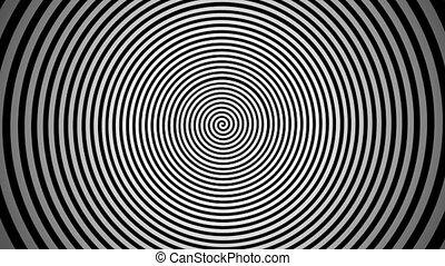 Endlessly rotating hypnotic spiral