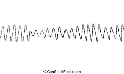 Graphical display of sound waves - Loopable video 1920x1080...