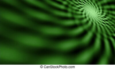 Hypnotic maddening green spiral