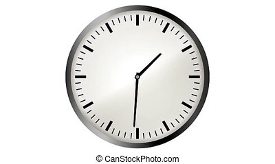 Loopable video animation of timelapse of clock - 4K...