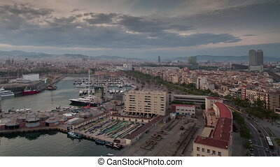 Loopable video of clouds moving above Barcelona, Spain - ...