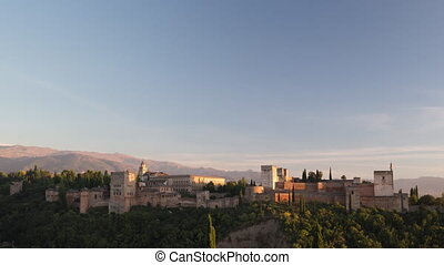 Loopable video of clouds moving above the Alhambra, Granada...