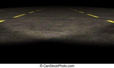 loopable, vuoto, autostrada, animazione
