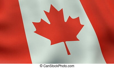 Loopable waving Canadian flag animation