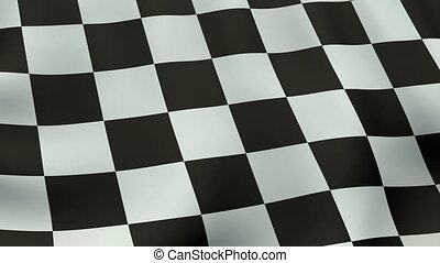 Loopable waving checkered flag animation