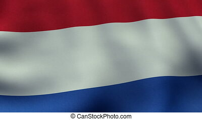 Loopable waving Dutch flag animation
