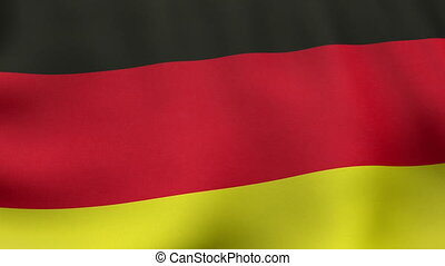 Loopable waving German flag animation