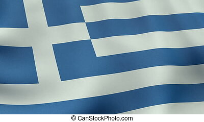 Loopable waving Greek flag animation