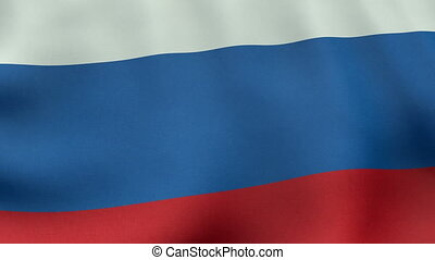 Loopable waving Russian flag animation
