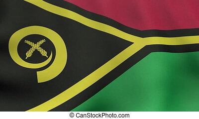 Loopable waving Vanuatuan flag animation