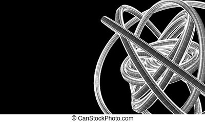 White Wire Frame Circle Abstract
