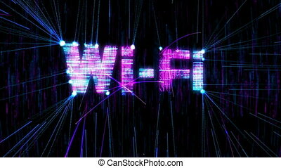 Loopable Wi-Fi animation. Alpha is included