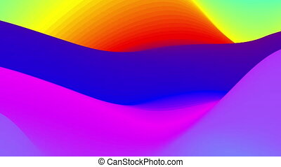 Abstract colorful wavy background in bright rainbow colors.