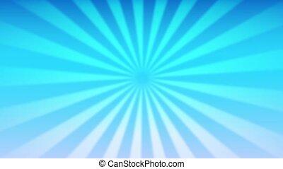 Looped basic sunburst rotation