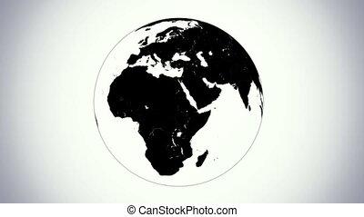 looped BW earth