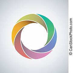 Looped design element - Colorful design element in the ...