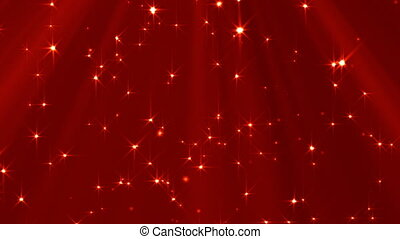 Looped Lights And Stars Background