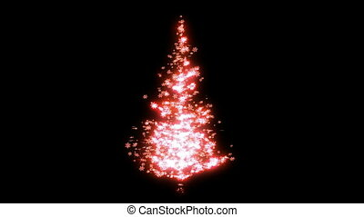 Looped pink shape of Christmas tree - Loopable Rotating pink...