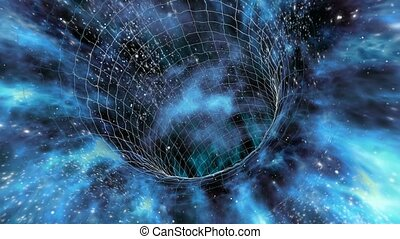 Looped wormhole flight to another dimension through a...