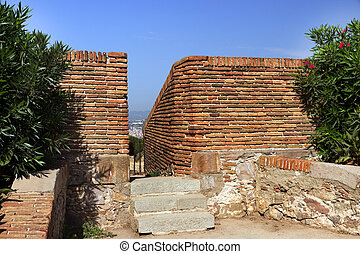 loophole fortress - loophole Montjuic castle, fortress...