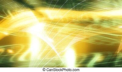 Looping Abstract Green Yellow BG