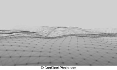Looping Abstract wave background