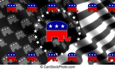 looping, achtergrond, republikein, vlag