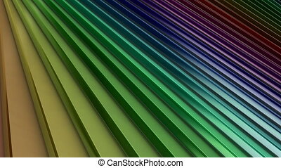 Looping Animation of a Rainbow Spectrum of Colored Rotating...