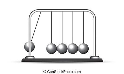 Looping animation of balls in the Newtonian cradle
