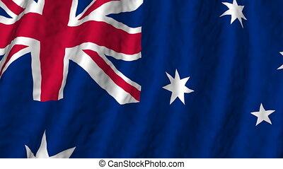looping, australië, achtergrond, vlag