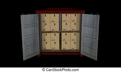 Looping Container Unloading Animati