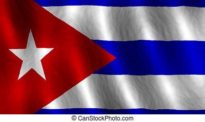 looping, cuba, achtergrond, vlag