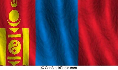 looping, de vlag van mongolië