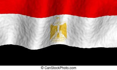 looping, egypte, achtergrond, vlag
