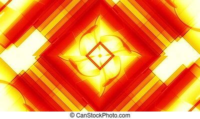 Geometric Yellow Orange Abstract